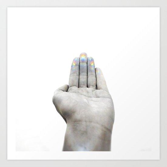 Hand left Art Print