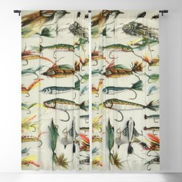 Fishing Lures Blackout Curtain