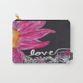 PINK FLOWER LOVE Carry-All Pouch