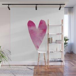 Watercolour heart Wall Mural