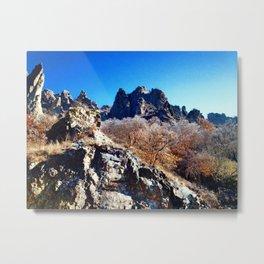 Volcano Cliffs Metal Print