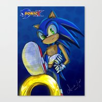 sonic Canvas Prints featuring Sonic by amanda.scopel