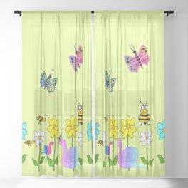 Charming Nature Sheer Curtain