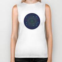 cosmic Biker Tanks featuring Cosmic by Katya Sokolova