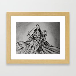 The Goddess of Justice - Lady Justice aka Themis Framed Art Print
