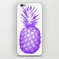 pinapple iPhone & iPod Skins featuring Purple Pineapple by CumulusFactory