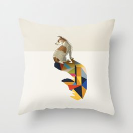 Walking Shadow, Jack Russell Throw Pillow