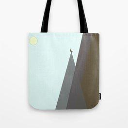 Solitude: Mountain Goat on Peak Tote Bag
