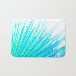 Solar Summer Fan Palms - Blue and Aqua Bath Mat