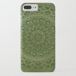 Mandala Royal - Green and Gold iPhone Case