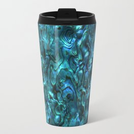 Abalone Shell | Paua Shell | Cyan Blue Tint Travel Mug
