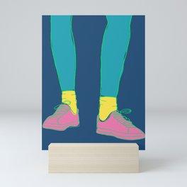 Colorful Running Sneakers Mini Art Print