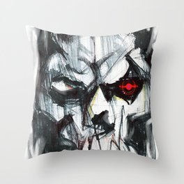Futuristic Cyborg 4 Throw Pillow
