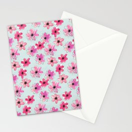 Floral hand painted pattern Stationery Cards