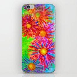 Bright Sketch Flowers iPhone Skin
