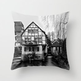 Old timbered house Throw Pillow
