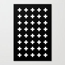 Swiss Cross Black Canvas Print