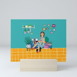 Couch Slouch Mini Art Print