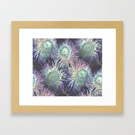 Artfully abstract blooming ice flowers Framed Art Print