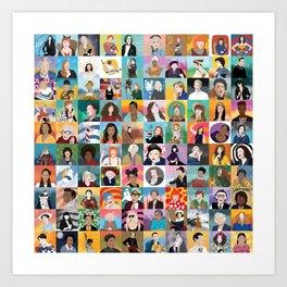 100 Boss Babes Art Print