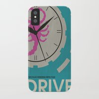 movie poster iPhone & iPod Cases featuring Drive - Minimalist Movie Poster by Minimalist Movie Posters