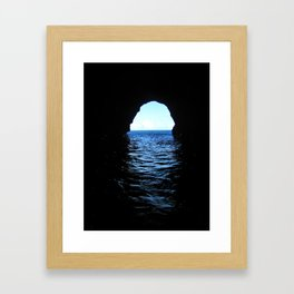 Don't be here at high tide Framed Art Print