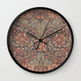 Honeysuckle (1876) by William Morris  Wall Clock