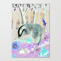 badger Canvas Prints featuring badger by ahatom