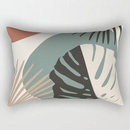 Minimal Yin Yang Monstera Fan Palm Finesse #1 #tropical #decor #art #society6 Rectangular Pillow
