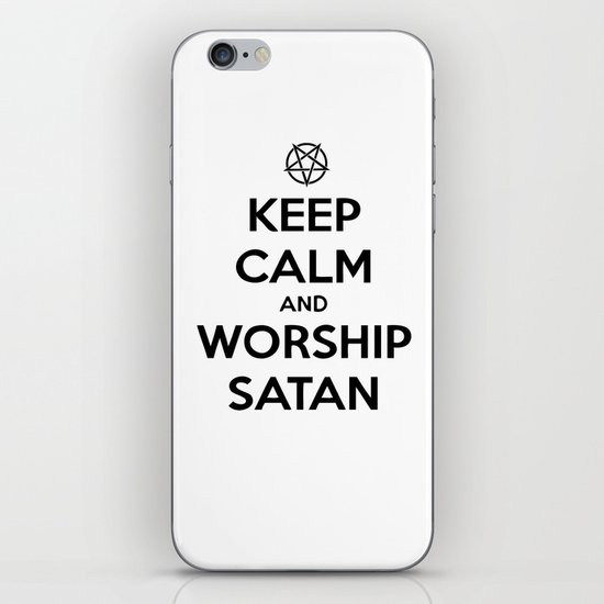 Keep Calm and Worship Satan iPhone & iPod Skin