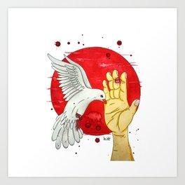 Pigeon of the peace Art Print