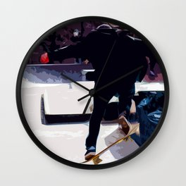 Abstract Skater in the City Air Wall Clock