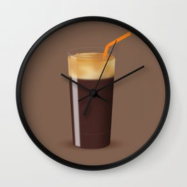 Shaken Not Stirred - Iced Coffee Illustration Wall Clock
