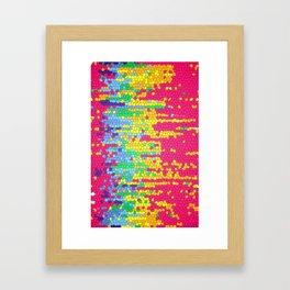 Colorful mosaic pattern Framed Art Print