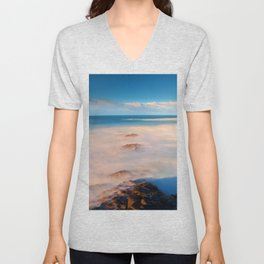 Surf at the Giants Causeway Unisex V-Neck