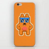 8bit iPhone & iPod Skins featuring 8Bit RaveBear by Bear Picnic