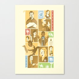 Parks & Rec - Dammit Jerry! Edition Canvas Print