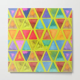 Watercolor Triangle Blends Metal Print