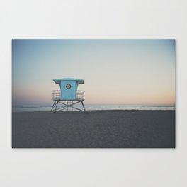 sunset on the coast ... Canvas Print