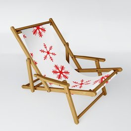 red snowflake seamless pattern Sling Chair