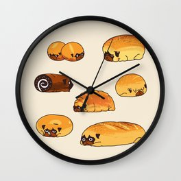 Bread Pugs Wall Clock