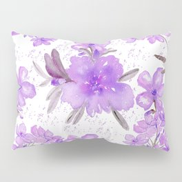 Watercolor lavender lilac brown modern floral Pillow Sham