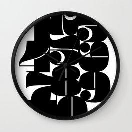 Numbers Black Wall Clock