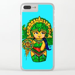 Warrior Princess Kokeshi Clear iPhone Case
