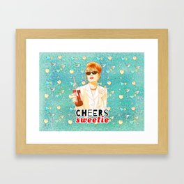 Cheers sweetie Patsy Stone AbFab Framed Art Print