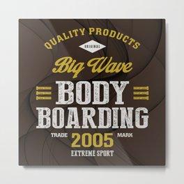 Bodyboarding Extreme Sport Metal Print