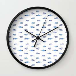 FISH ALL OVER Wall Clock