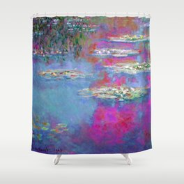 Water Lillies - Claude Monet (plastic pink) Shower Curtain