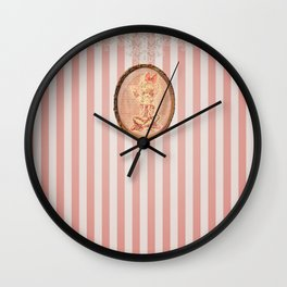 Pink Ballerina Wall Clock