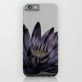Black Lotus Watercolor Digital Art 4 iPhone Case